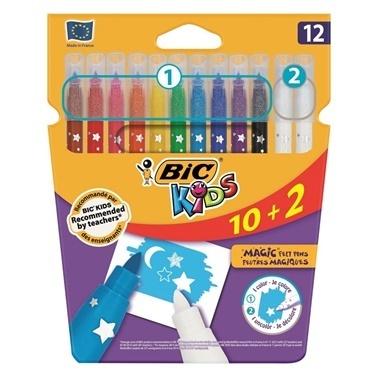 Bic Sihirli Silinebilir Keçeli Kalem 12 Renk Renkli